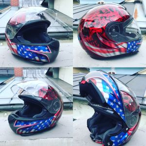 "Motorradhelm ""Stars and stripes"""