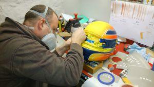 Bachler-Helm in Arbeit