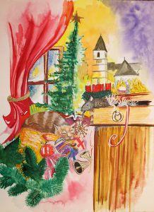 Illustration für Weihnachtswerbung