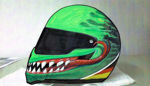Skizze Motorradhelm